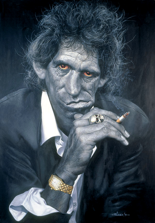 Keith Richards with Cartier Watch