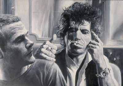 Krüger Self Portrait with Keith Richards