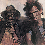 Keith Richards with John Lee Hooker