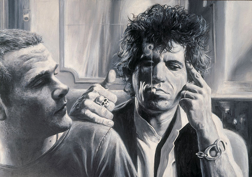 Sebastian Kruger and Keith Richards
