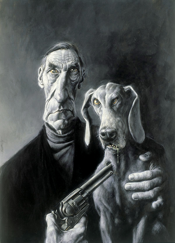 William S. Burroughs with Dog & Colt